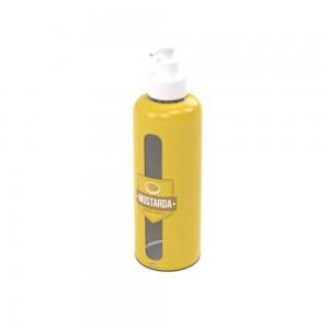 Imagem do produto - Garrafa de Plástico 480 ml com Bomba Mostarda