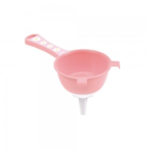 Imagem do produto - Peneira de Plástico Diâmetro de 10 cm com Funil Encaixáxel Camomila