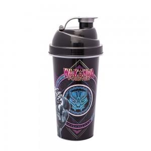 Imagem do produto - Shakeira de Plástico 580 ml com Tampa Rosca e Misturador Pantera Negra