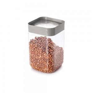Imagem do produto - Pote de Plástico Quadrado 2 L Tampa Rosca Plug