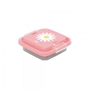 Imagem do produto - Pote de Plástico Quadrado 150 ml com Travas Clic e Trave Camomila