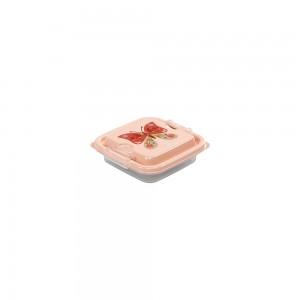 Imagem do produto - Pote de Plástico Quadrado 150 ml com Travas Clic e Trave Borboleta
