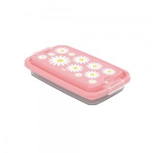 Imagem do produto - Pote de Plástico Retangular 280 ml com Travas Clic e Trave Camomila