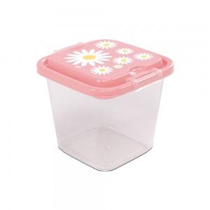 Imagem do produto - Pote de Plástico Quadrado 1,4 L com Travas Clic e Trave Camomila