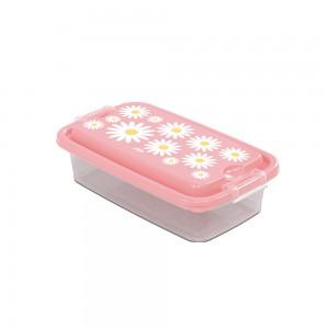 Imagem do produto - Pote de Plástico Retanguar 520 ml com Travas Clic e Trave Camomila