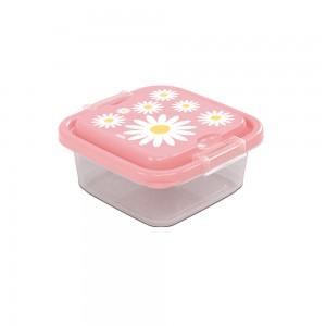 Imagem do produto - Pote de Plástico Quadrado 640 ml com Travas Clic e Trave Camomila