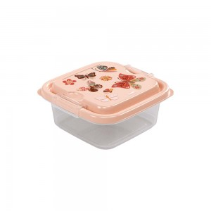 Imagem do produto - Pote de Plástico Quadrado 640 ml com Travas Clic e Trave Borboleta