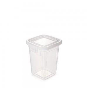 Imagem do produto - Pote de Plástico Retangular 420 ml com Tampa Fixa e Trava Mantimentos Duo