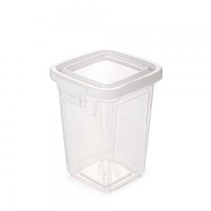 Imagem do produto - Pote de Plástico Retangular 1,8 L com Tampa Fixa e Trava Mantimentos Duo