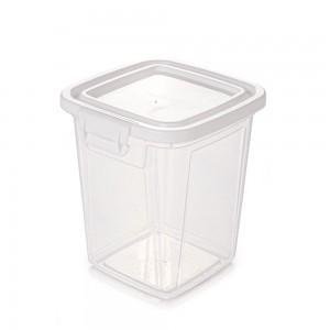 Imagem do produto - Pote de Plástico Retangular 3,2 L com Tampa Fixa e Trava Mantimentos Duo