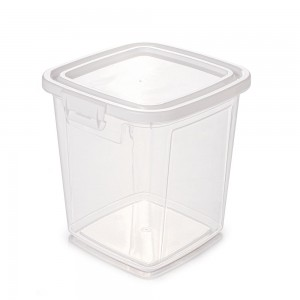 Imagem do produto - Pote de Plástico Retangular 5,1 L com Tampa Fixa e Trava Mantimentos Duo