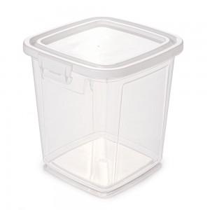 Imagem do produto - Pote de Plástico Retangular 7,4 L com Tampa Fixa e Trava Mantimentos Duo