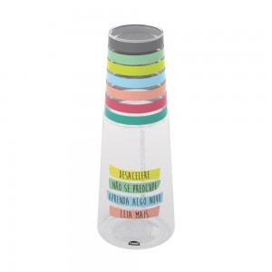 Imagem do produto - Garrafa Moringa de Plástico 960 ml com Copo De Bem Com a Vida