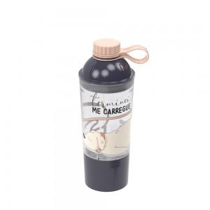 Imagem do produto - Garrafa de Plástico 600 ml com Tampa Rosca Fixa e Compartimento  Cute Pets