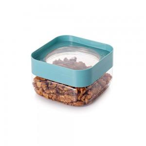 Imagem do produto - Pote de Plástico Quadrado 510 ml com Tampa Rosca Plug Decora