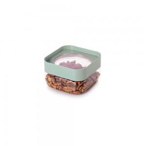 Imagem do produto - Pote de Plástico Quadrado 510 ml com Tampa Rosca Plug Decora Verde