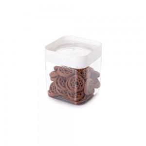 Imagem do produto - Pote de Plástico Quadrado 1,28 L Tampa Rosca Plug Decora