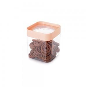 Imagem do produto - Pote de Plástico Quadrado 1,28 L com Tampa Rosca Plug Decora Rosa