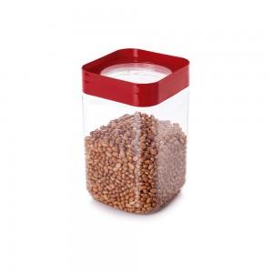Imagem do produto - Pote de Plástico Quadrado 2 L Tampa Rosca Plug Decora