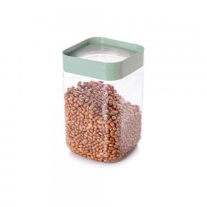 Imagem do produto - Pote de Plástico Quadrado 2 L com Tampa Rosca Plug Decora Verde