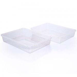 Imagem do produto - Conjunto de Cestinhas de Plástico Retangulares Organizadoras Grandes 2 Peças
