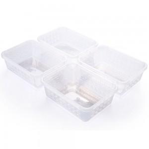 Imagem do produto - Conjunto de Cestinhas de Plástico Retangulares Organizadoras Pequenas 4 Peças