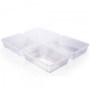 Imagem do produto - Conjunto de Cestinhas de Plástico Retangulares Organizadoras Médias 4 Peças