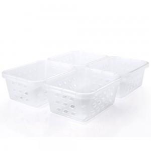Imagem do produto - Conjunto de Cestinhas de Plástico Retangulares Organizadoras Mini 4 Peças