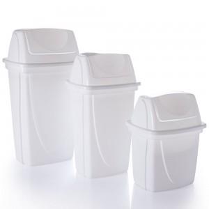Imagem do produto - Conjunto de Lixeiras de Plástico com Tampa Basculante 3 Peças