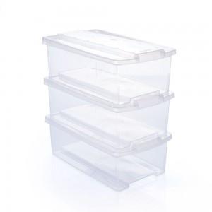 Imagem do produto - Conjunto de Caixas de Plástico Organizadoras 6 L com Tampa Empilhável 3 Peças