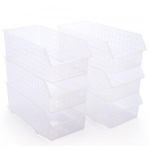 Imagem do produto - Conjunto de Cestinhas de Plástico Retangulares Organizadoras Empilháveis 6 Peças