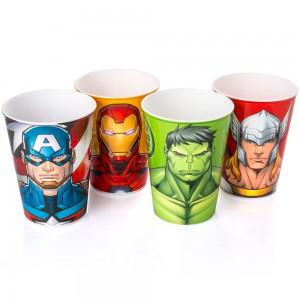Imagem do produto - Conjunto de Copos de Plástico 320 ml Avengers 4 Peças