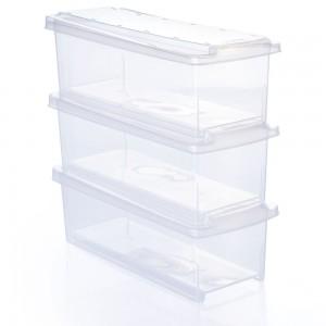 Imagem do produto - Conjunto de Caixas de Plástico Organizadoras 3,8 L com Tampa Empilhável 3 Peças