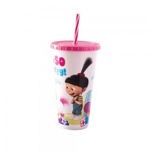 Imagem do produto - Copo Refrigerante de Plástico 700 ml com Tampa e Canudo Meu Malvado Favorito
