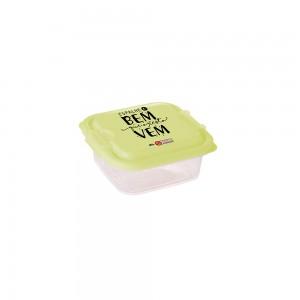 Imagem do produto - Pote de Plástico Quadrado 640 ml com Travas Clic e Trave Protege
