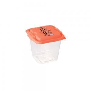 Imagem do produto - Pote de Plástico Quadrado 630 ml com Travas Clic e Trave Protege