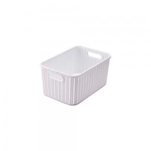 Imagem do produto - Cesta de Plástico Retangular Organizadora 4,7 L sem Tampa e Pegador Trama
