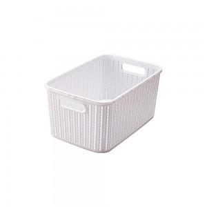 Imagem do produto - Cesta de Plástico Retangular Organizadora 8 L sem Tampa e Pegador Trama