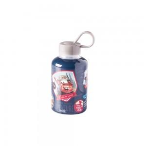 Imagem do produto - Garrafa de Plástico 280 ml com Tampa Rosca e Pegador Fixo Cilíndrica Carros