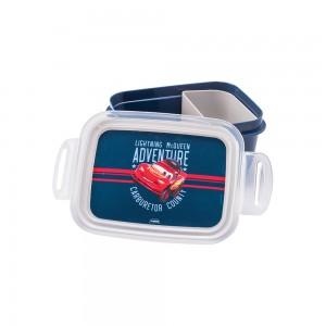 Imagem do produto - Marmita de Plástico 850 ml com Divisória Removível e Travas Laterais Carros
