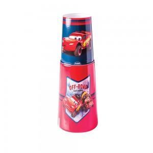 Imagem do produto - Garrafa Moringa de Plástico 960 ml com Copo Carros