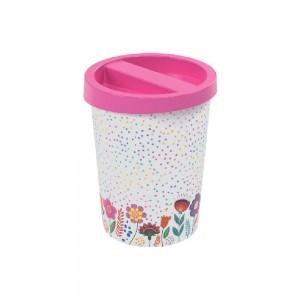 Imagem do produto - Lixeira de Plástico com Tampa Floral 5,3 L