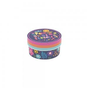 Imagem do produto - Caixa de Plástico Redonda 630 ml com Tampa Encaixável Floral