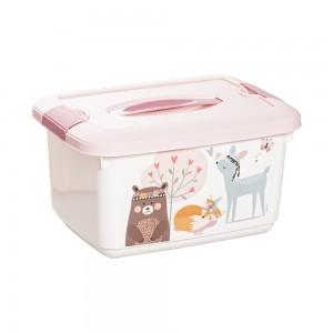 Imagem do produto - Caixa de Plástico 5,2 L com Alça e Trava Bichinhos Petit