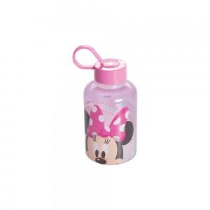 Imagem do produto - Garrafa de Plástico 280 ml com Tampa Rosca e Pegador Fixo Cilíndrica Minnie