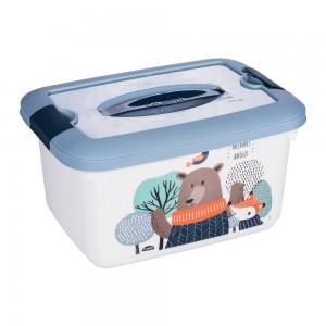Imagem do produto - Caixa de Plástico 5,2 L com Alça e Trava Bichinhos
