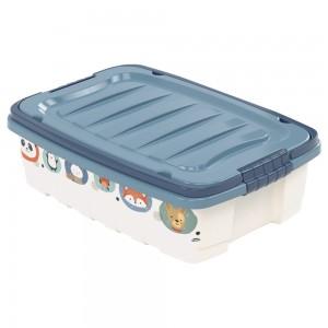 Imagem do produto - Caixa de Plástico Retangular Organizadora 8,5 L com Tampa, Travas Laterais e Alças Bichinhos