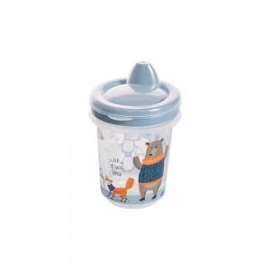 Imagem do produto - Copo de Plástico 330 ml para Transição com Fechamento Rosca Bichinhos
