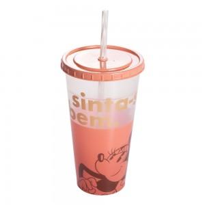 Imagem do produto - Copo Refrigerante de Plástico 700 ml com Tampa e Canudo Minnie Adulto