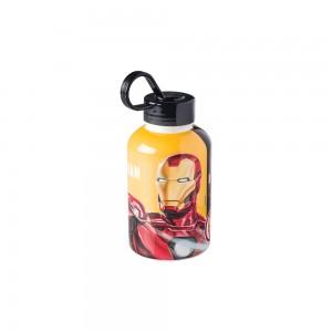 Imagem do produto - Garrafa de Plástico 280 ml com Tampa Rosca e Pegador Fixo Cilíndrica Avengers Homem de Ferro